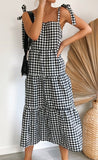 Daphne Dress Black Gingham