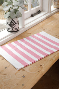 Stripe Tea Towel Pink