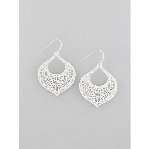 Moroccan Filigree Earrings Silver