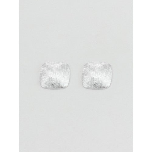 Silver Domed Square Studs