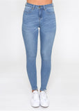 Khloe Light Blue Wash Skinny Jeans