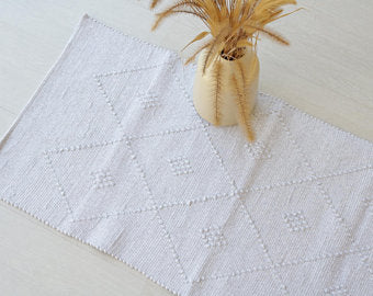 Bathmat Diamond White Medium