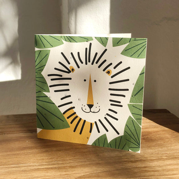 Plantable Leo The Lion Card