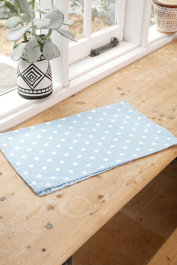 Dotty Tea Towel Blue