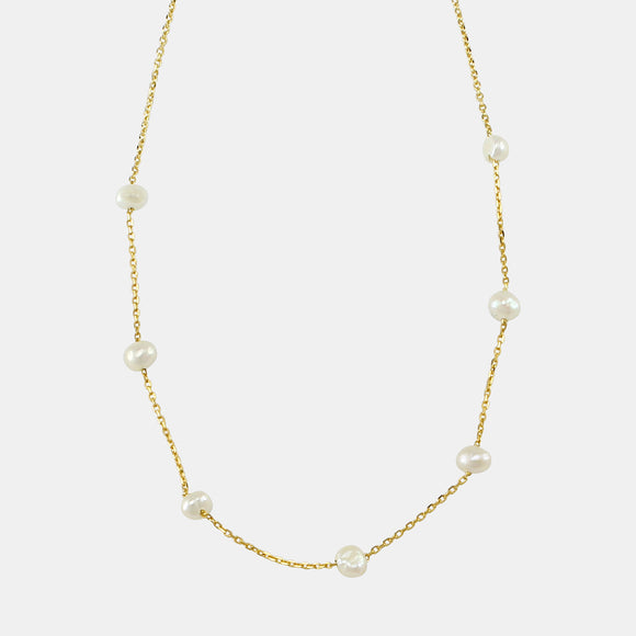 Freshwater Pearl Necklace Gold