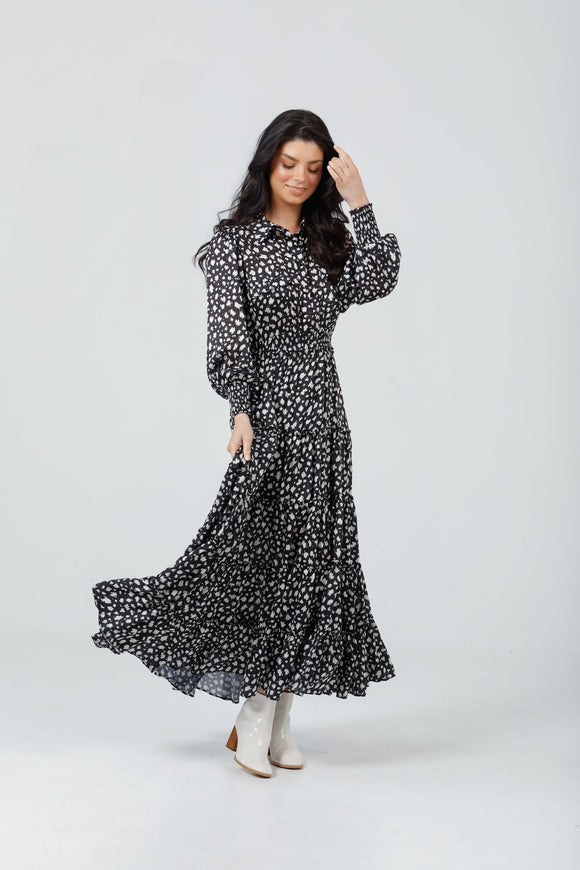 Lido Dress Black Cloudburst