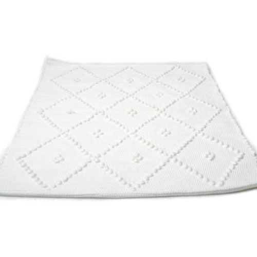 Bathmat Diamond White Small