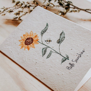 Hello Petal Mini Card- Hello Sunshine