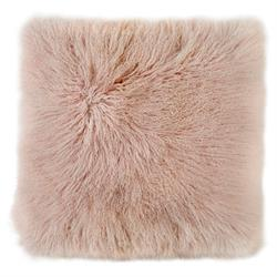 Mongolian Sheepskin Cushion 50cm Blush