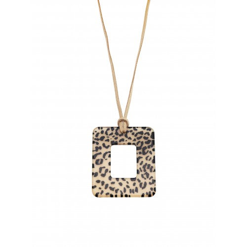 Cheetah Squared Necklace