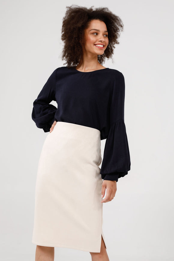 Beverly Skirt Ecru