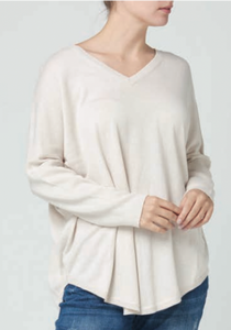 V Neck Sweater Oatmeal