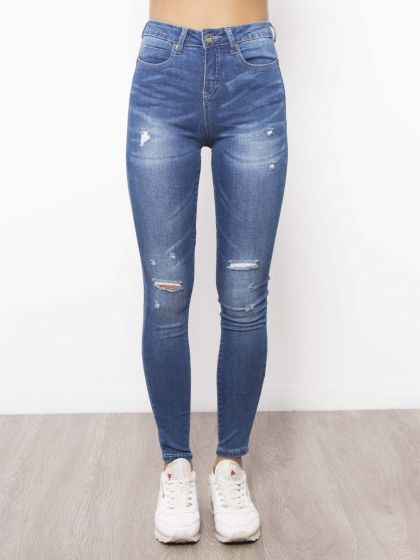 Kylie Blue Wash Ripped Jeans