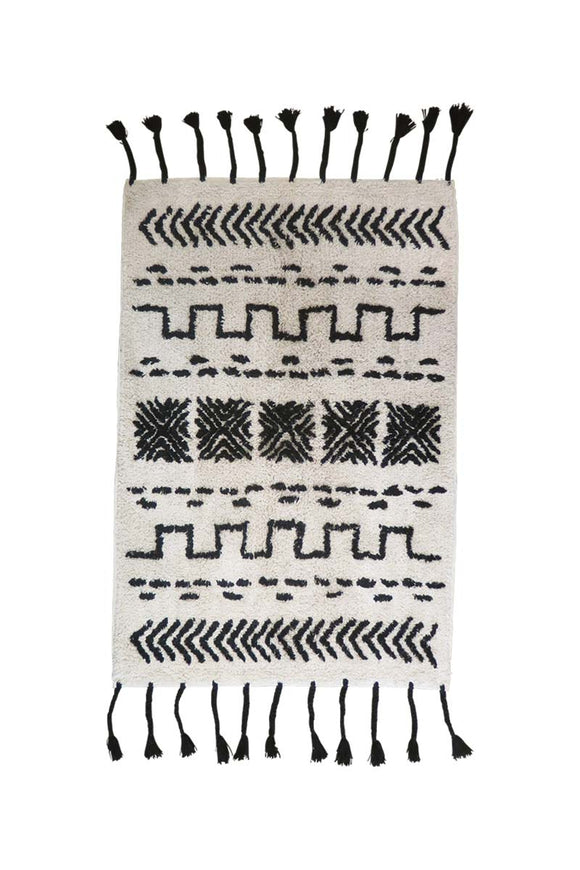 Aragon Door Rug Black/White