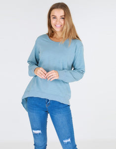Newhaven Sweater Duck Egg Blue