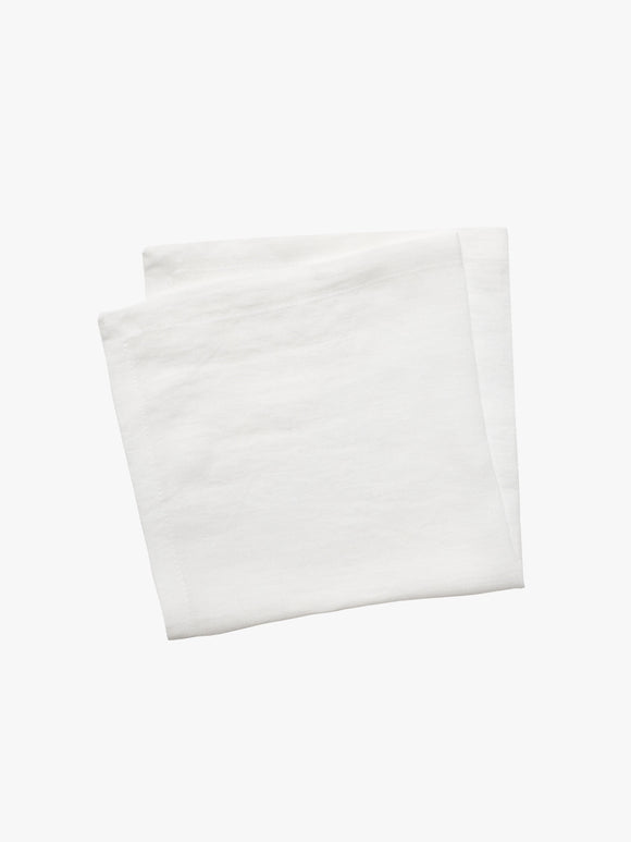 Moss White Napkin Set 4