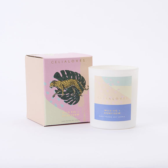 Celia Loves 40hr Candle Wild Fig + Honeydew