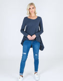 Willow Long Sleeve Tee Indigo