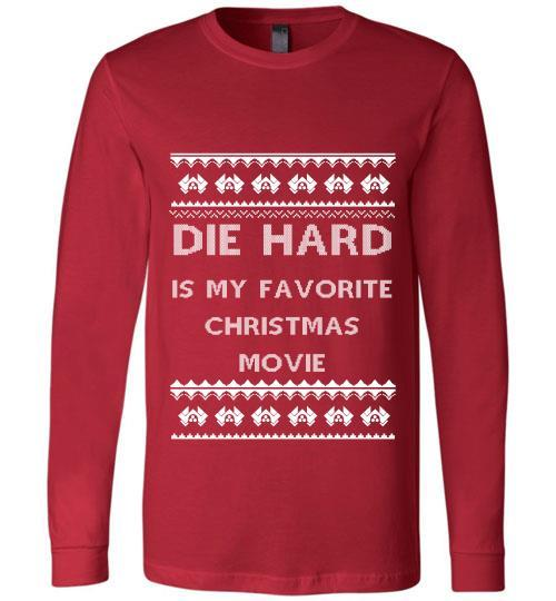 die hard is my favourite christmas movie sweater hoodie long sleeve