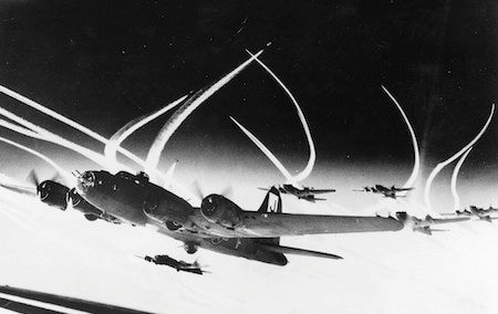Surviving a Mid-Air Collision Between two B-17s