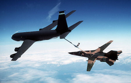 That Time a Kc-135 Tanker Hauled a Damaged F-111 Bomber Back to Friendly Territory.