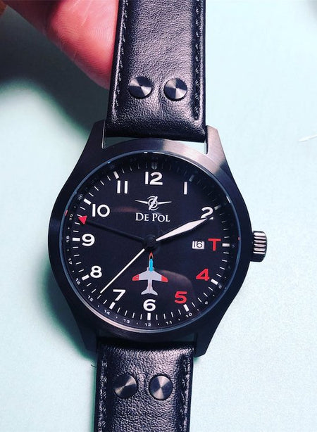 Pilot Watch - Aviator Watch - USN Watch - Aviation Watch - USN Wings - USN Licensed - De Pol Watch - T-45C Goshawk