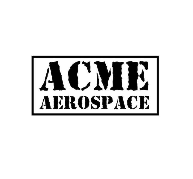 ACME Aerospace - ACME Aerospace decal - aviation decal - nasa decal - space decal - military sticker - aircraft sticker - aviation funny - sierra hotel aeronautics