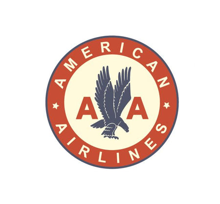 Vintage Airline Logo - Airlines Vintage Logo - American Airlines Eagle - American Airlines Vintage Decal - American Airlines Retro Logo - Retro Aviation Decal - Retro Airline Logo - Aviation Decal-Aircraft Sticker-Aircraft Markings-Aviation Sticker- Aircraft Decal-Airline Logos-Airline Markings
