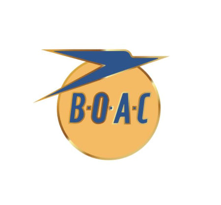 BOAC Decal - Vintage Airlines - Retro Airline Decal - Aviation Decal - Airline Decal - British Airlines - British Overseas Airways Company - Aircraft sticker