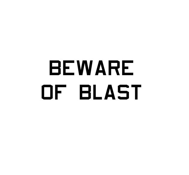 Beware Of Blast-Military Decal-Aviation Decal-Aircraft Sticker-Aircraft Markings-Squadron Markings-Aviation Sticker-Military Aircraft Decal