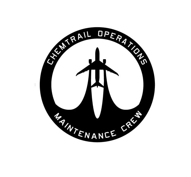 Chemtrail Flight Crew Decal- Chemtrail Maintenance crew-Chemtrail Decal-Chemtrail Patch-Aviation Decal-Aviation Sticker-Aircraft marking-military decal