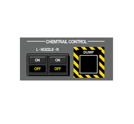 Chemtrails-Chemtrail Control Panel-Chemtrail Switch-Military Decal-Aviation Decal-Aircraft Sticker-Aircraft Markings-Aviation Sticker-Military Aircraft Decal