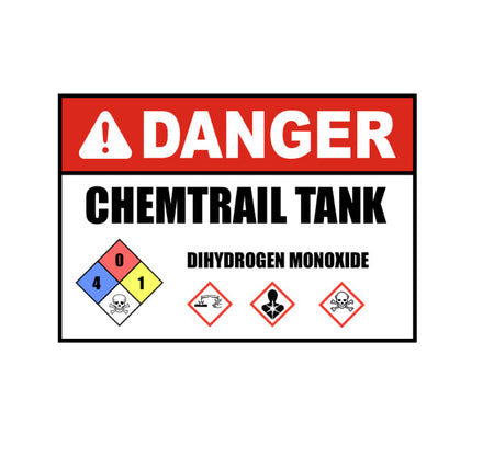 Chemtrail Tank, Chemtrail Decal, Aviation Decal, Warning Chemtrails, Chemtrail Conspiracy, Aircraft Decal, Aviation Sticker, Jeep Sticker