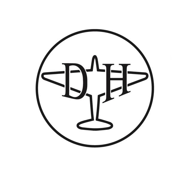 Aviation Decal - de Havilland Aircraft Company - de Havilland Aircraft Company decal - Retro Aviation Decal - Aviation Sticker - Aircraft Markings - Aviation Logo - Retro Aviation Logo - Aircraft sticker - Aviation History Decal