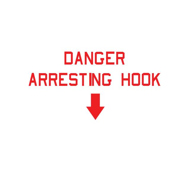 Danger Decal - Danger Arresting Hook - USN Decal - Aviation Sticker-Military Decal-Aviation Decal-Aircraft Sticker-Aircraft Markings-Aviation Sticker-Military Aircraft Decal