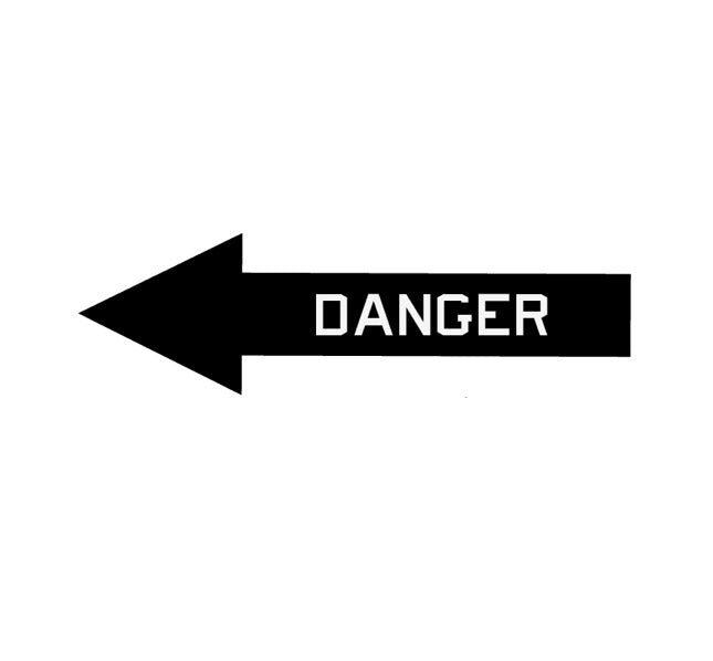 Danger Arrow-Aircraft Warning-Military Decal-Aviation Decal-Aircraft Sticker-Aircraft Markings-Aviation Sticker-Military Aircraft Decal