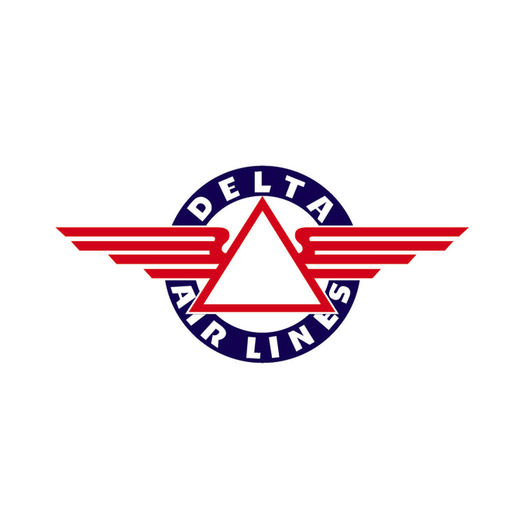 Delta Airlines - Vintage Airline Logo - Delta Airlines Vintage Logo - Delta Airlines Wings - Retro Aviation Decal - Retro Airline Logo - Aviation Decal-Aircraft Sticker-Aircraft Markings-Aviation Sticker- Aircraft Decal-Airline Logos-Airline Markings