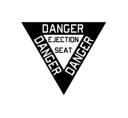 Ejection Seat-Pull To Eject-Military Decal-Aviation Decal-Aircraft Sticker-Aircraft Markings-Aviation Sticker-Military Aircraft Decal