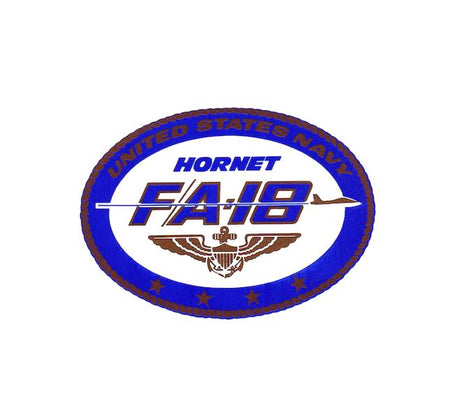 US Navy Decal - F18 Decal - Hornet Decal - USN Decal - Military Decal - Aviation Decal - Aviator Decal - Airplane Decal - Aviation History Sticker