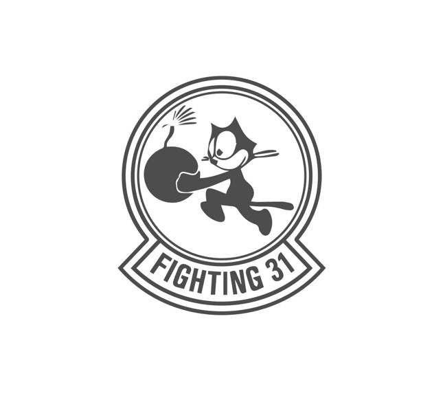 VFA-31-Tomcatters Squadron-USN Decal-Navy Squadron Decal-Felix the Cat Decal