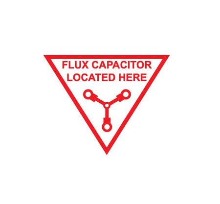 Flux Capacitor - Aviation Safety Marking - Flux Capacitor Decal - Flux Capacitor Sticker - Sci Fi Sticker - Sci Fi Decal - Military Decal-Aviation Decal-Aircraft Sticker-Aircraft Markings-Aviation Sticker-Military Aircraft Decal