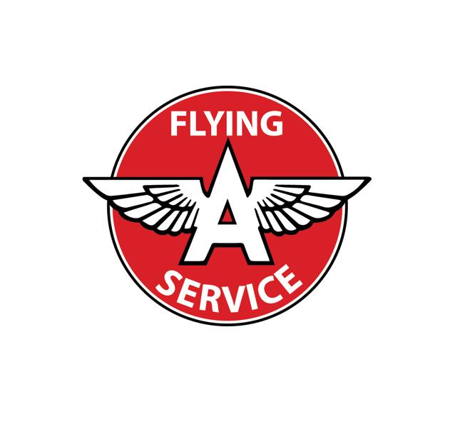 Aviation Decal - Flying A - Aviation sticker - Wings - Aviation history decal - Retro Aviation Decal - Vintage Aviation Decal - Pilot Decal - Sierra Hotel Aeronautics