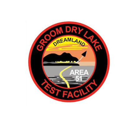 Area51 Decal - Area51 Sticker - Area 51 - Groom lake - Dreamland - USAF Decal - Military Decal - Aviation Sticker - Funny Sticker - Base Pass - Car Sticker - Groom dry lake - flight patch - aviation decal - usaf decal