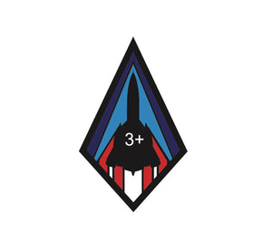 Habu Sr-71 Mach 3 Diamond Decal