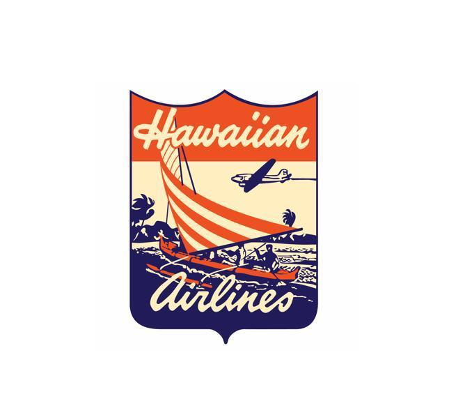 Vintage Airline Logo - Airlines Vintage Logo - American Airlines Eagle - American Airlines Vintage Decal - American Airlines Retro Logo - Retro Aviation Decal - Retro Airline Logo - Aviation Decal-Aircraft Sticker-Aircraft Markings-Aviation Sticker- Aircraft Decal-Airline Logos-Airline Markings - Hawaiian Airlines - Hawaiian Airlines Decal