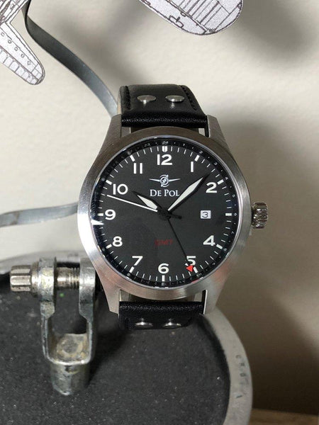 Pilot Watch - Aviator Watch - GMT Watch - Aviation Watch  - De Pol Watch
