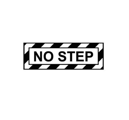 NO Step Decal-Military Decal-Aviation Decal-Aircraft Sticker-Aircraft Markings-Aviation Sticker-Military Aircraft Decal