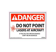 No Lasers - Aviation Safety Decal - Safety Decal - Aviation Decal - Funny Aviation Sticker - Funny Aviation Decal - Asshole Decal - Airline Decal - Danger Decal