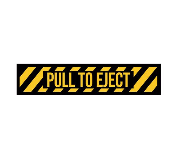 Pull To Eject Decal-Pull To Eject Sticker-Aircraft Marking-Aviation Decal-Aviation Sticker - Cockpit Sticker - Military Aircraft decal - Aviation Collectable - Aircraft Marking - Flight Sim Decal - USAF Decal - USN Decal - Ejection Seat Markings - Ejection Seat Decal