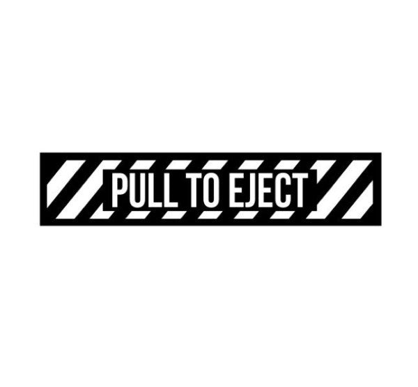 Pull To Eject Decal-Pull To Eject Sticker-Aircraft Marking-Aviation Decal-Aviation Sticker